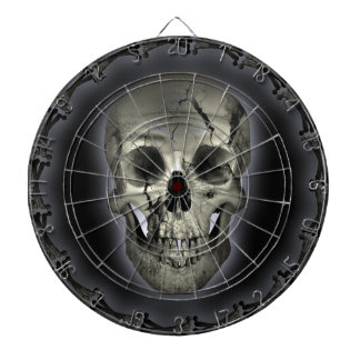 Glowing Skull Goth Metal Dartboard