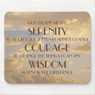 Glowing Sky Serenity Prayer Mousepad
