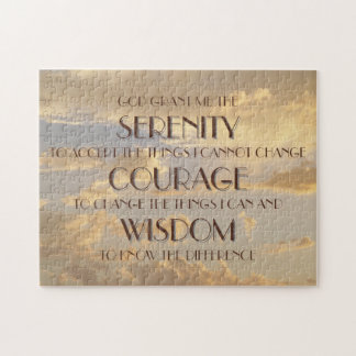 Glowing Sky Serenity Prayer Puzzle