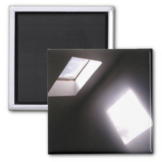 Glowing Skylight Window Minimalist Geometric Photo Magnet