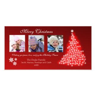 Glowing Snowflake Tree Photocard (red) Photo Card
