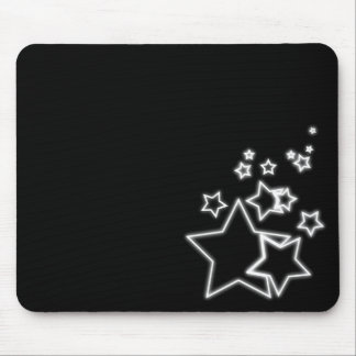glowing stars mouse pad