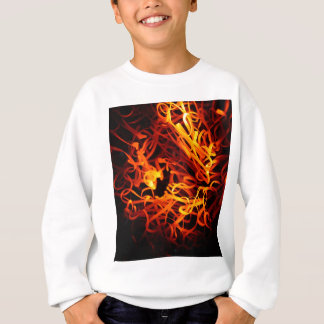 Glowing steel wool sweatshirt