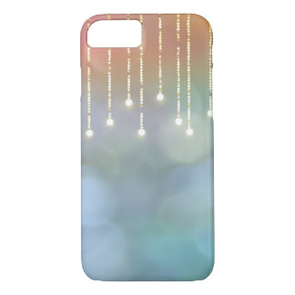 glowing string of lights on bokeh iPhone 8/7 case