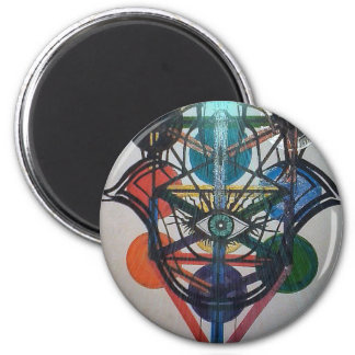 Glowing Tree of Life 2 Inch Round Magnet