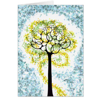 Glowing Tree of Life Card