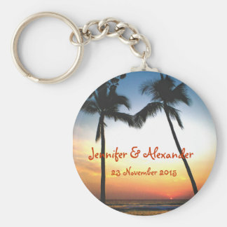 Glowing Tropical Sunset special  event Keychain