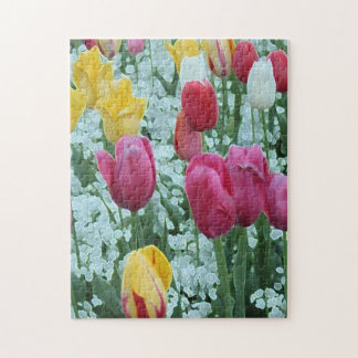 Glowing Tulip Garden Jigsaw Puzzle