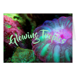 Glowing Undersea Coral Card