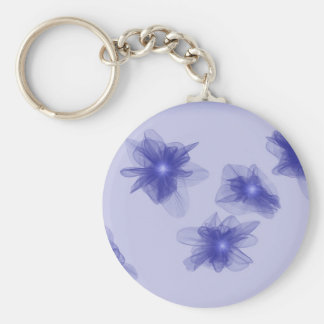 Glowing Violets Keychain
