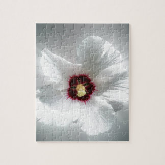 glowing white petals jigsaw puzzle