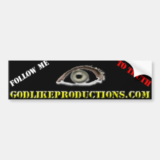 GLP Bumper Sticker ,Follow me to truth