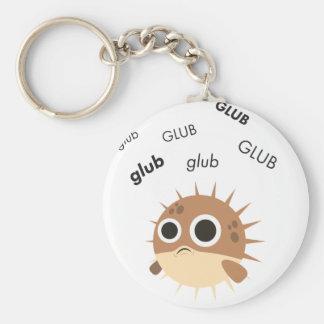 Glub Blowfish Cute Emoji Keychain