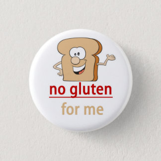 Gluten Allergy Alert 1 Inch Round Button