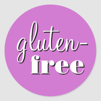 Gluten Free Allergy Safe Culinary Label Round Sticker