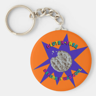 """Gluten-Free Before it was Cool"" Retro '80s-'90s Keychain"