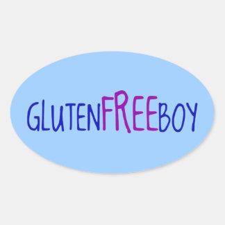 Gluten Free Boy Oval Sticker
