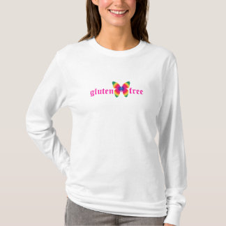 gluten-free butterfly (multi) Long Sleeve Tee