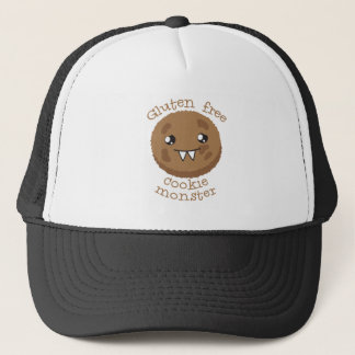 Gluten free cookie monster trucker hat
