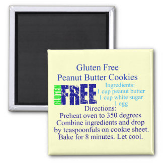 Gluten Free Cookie Recipe Magnet