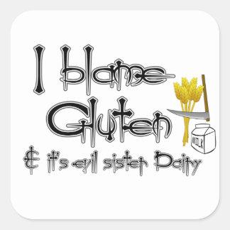 Gluten Free & Dairy Free Square Sticker