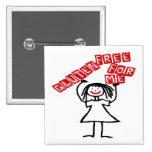 Gluten Free For Me Cartoon 2 Inch Square Button