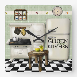 Gluten Free Kitchen Green Clock