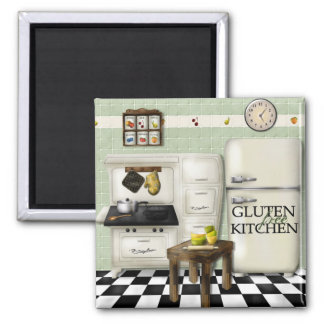 Gluten Free Kitchen Green Magnet