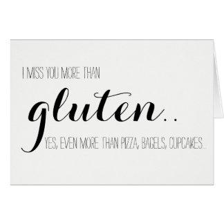 Gluten-Free Miss You Card