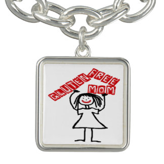 Gluten Free Mom Cartoon Charm Bracelet