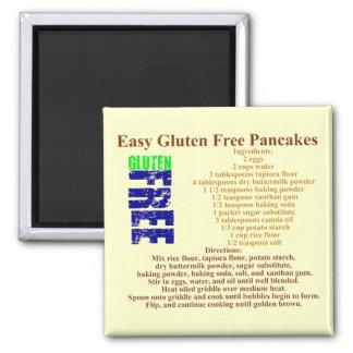Gluten Free Pancake Recipe Square Magnet