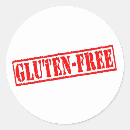 Gluten free stamp round stickers