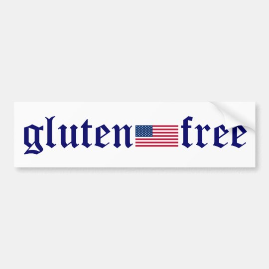 gluten-free U.S. Flag Bumper Sticker