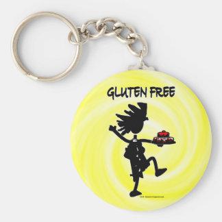 Gluten-Free Whimsy Silhouette Design Keychain