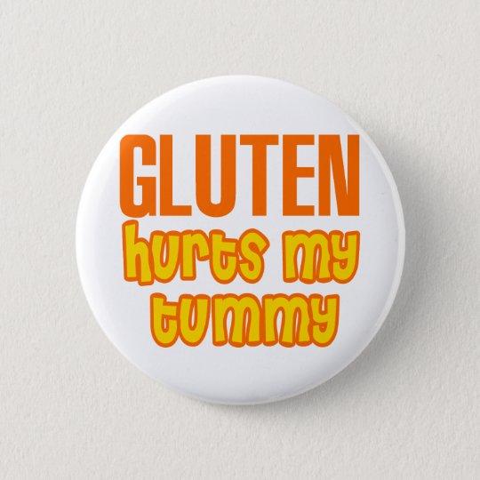 Gluten Hurts My Tummy 2 Inch Round Button