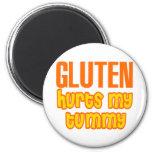 Gluten Hurts My Tummy Refrigerator Magnets