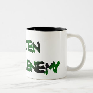 GLUTEN IS THE ENEMY two-tone large Mug