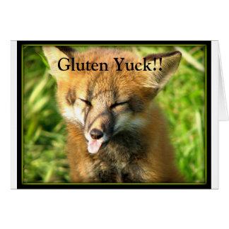 Gluten Yuck Card