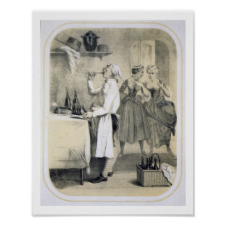 Gluttony in the Kitchen, from a series of prints d