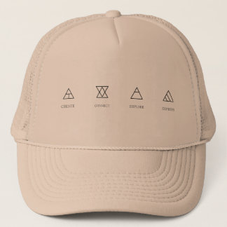 glyphs trucker hat