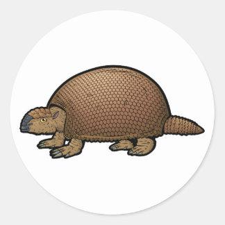 Glyptodon Round Sticker