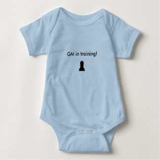 GM in training one piece Baby Bodysuit
