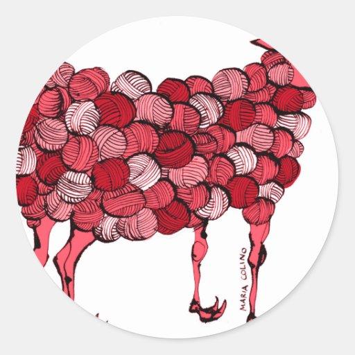 GM sheep (red) Sticker