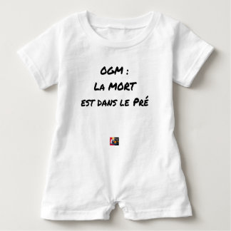 GMO? EAST DEATH IN the PRE one - Word games Baby Romper