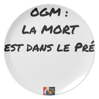 GMO? EAST DEATH IN the PRE one - Word games Plate