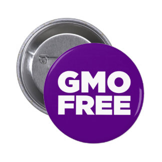 GMO FREE (PURPLE) 2 INCH ROUND BUTTON