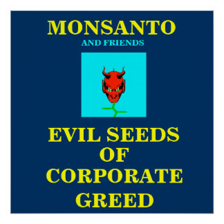 GMO POSTER/ PROTEST SIGN POSTER