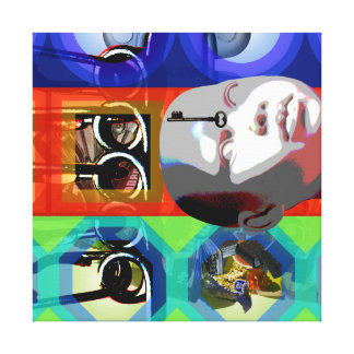 GMT 24 H Project Doll Key Psychedelic Frames S Canvas Print