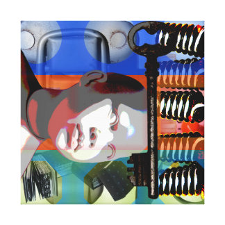 GMT 24 Heures Project Doll gradient colors Frame S Canvas Print