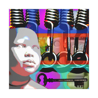 GMT 24 Heures Project Doll Pop Psychedelic Frame S Canvas Print